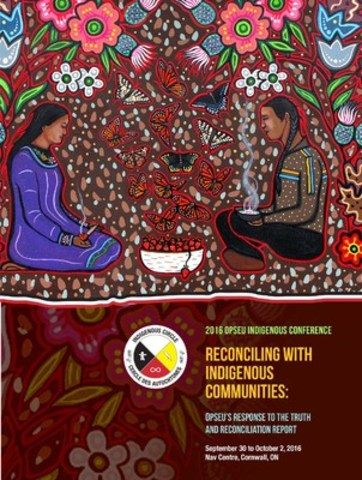 The cover to the 2016 OPSEU Indigenous conference program (CNW Group/Ontario Public Service Employees Union (OPSEU))
