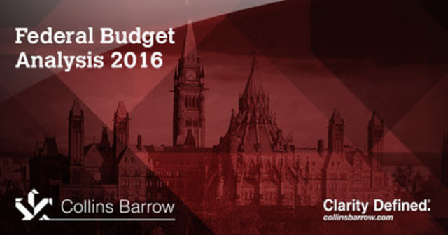 Federal Budget Analysis 2016 (CNW Group/Collins Barrow National Cooperative Incorporated)
