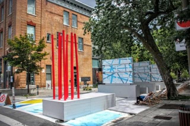 Patio culturel Hochelaga-Maisonneuve (Groupe CNW/Ville de Montréal - Arrondissement Mercier - Hochelaga-Maisonneuve)