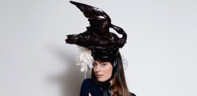"""To mark Will and Kate's first official visit to Canada, environmental groups commissioned some """"Canadian"""" royal hats to show how Canada has changed since the last major royal visit of William's parents, and not for the better, with its pursuit of the polluting tar sands. The hats can be seen at HatsForKate.ca (CNW Group/Environmental Defence)"""