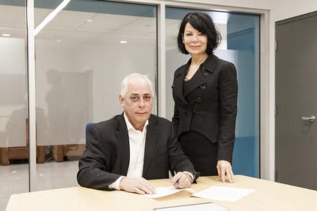 SUR LA PHOTO : Denis Hardy, président-directeur général, et Lyne Dubois, vice-présidente au développement des affaires, CRIQ (Groupe CNW/Centre de recherche industrielle du Québec)