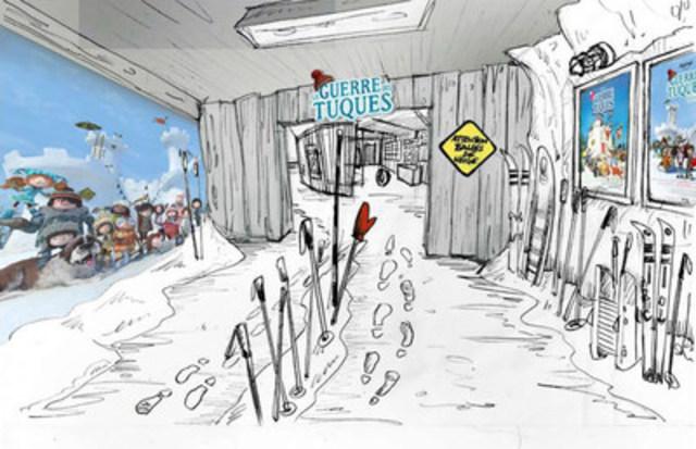 Embarquez aux origines de l'aventure La Guerre des Tuques et débutez votre visite en pénétrant dans la grange du premier film! (Groupe CNW/Musée Grévin Montréal)