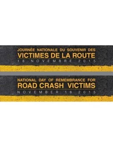 La journée nationale du souvenir des victimes de la route est le 18 novembre 2015. En moyenne, la route fait cinq morts par jour au Canada. #VictimesDeLaRoute (Groupe CNW/CONSEIL CANADIEN DES ADMINISTRATEURS EN TRANSPORT MOTORISE)