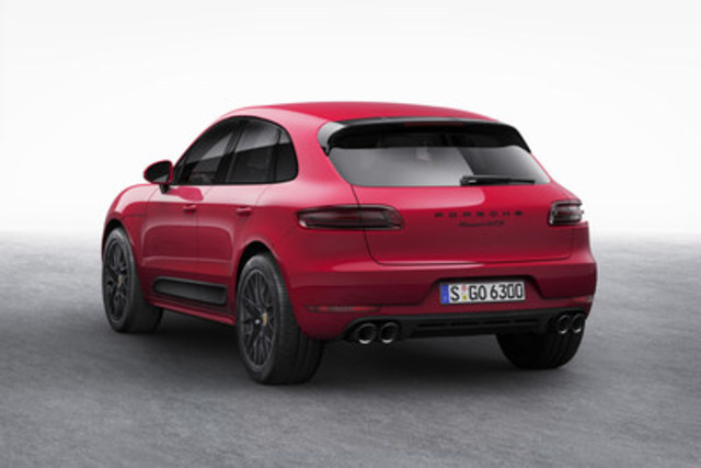 The 2017 Porsche Macan GTS will be available in Canada in the second quarter of 2016 (CNW Group/Porsche Cars Canada)