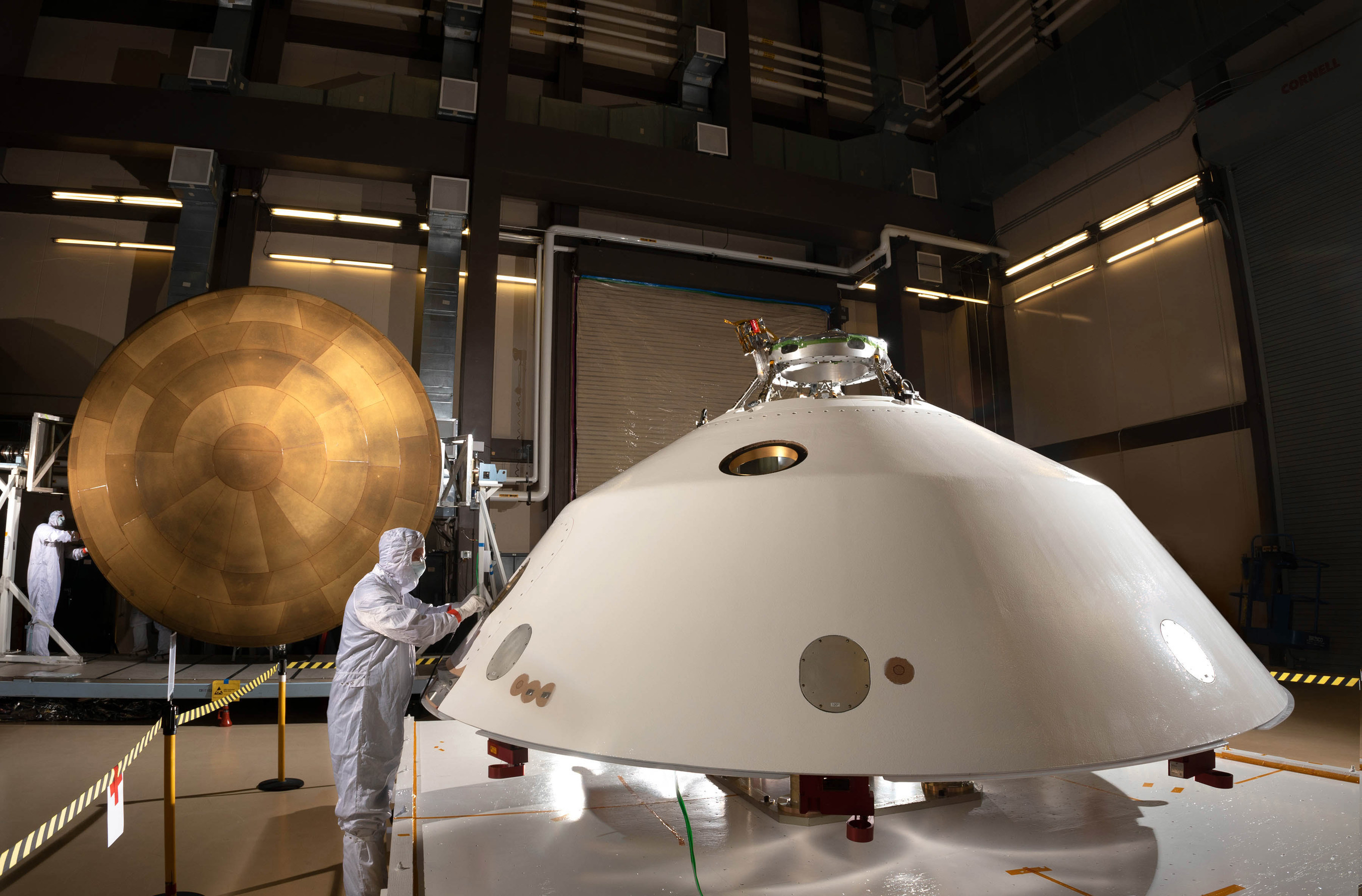 The aeroshell for the Mars 2020 rover was designed and built at Lockheed Martin Space near Denver and is comprised of two parts, the heat shield and the backshell.