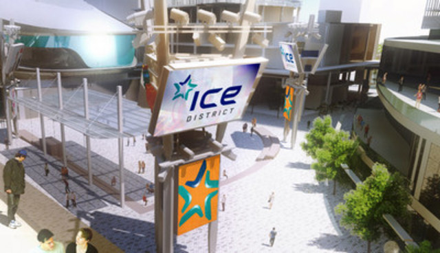 Ice District Digital-Media Plaza Sign (CNW Group/Kramer Design Associates)