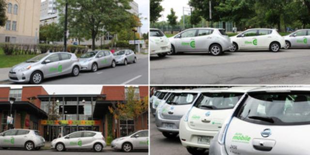 Auto-mobile vehicles soon available in Rosemont-La Petite-Patrie and Côte-des-Neiges-Notre-Dame-de-Grâce (CNW Group/COMMUNAUTO)