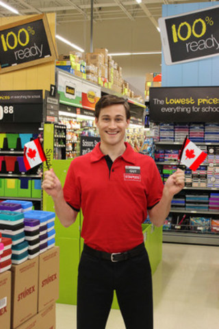 'Staples Guy' makes Canadian debut in retailer's back-to-school commercial. The campaign is available for preview on youtube.com/staplestv  in late July. (CNW Group/Staples Canada Inc.)