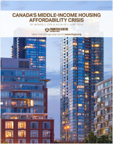 Canada's Middle-Income Housing Affordability Crisis (CNW Group/Frontier Centre for Public Policy)
