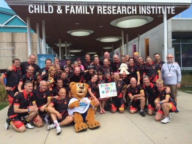 33 cyclists will embark on a journey across Canada to raise funds and awareness for children living with and beyond cancer. (CNW Group/Sears Canada Inc.)