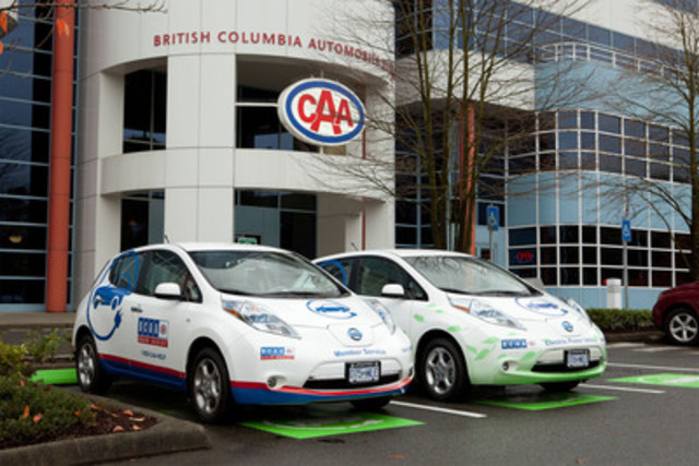 BCAA launches new electric vehicle initiative to help educate British Columbians about EV technology and provide roadside assistance and automotive support to EV owners. (CNW Group/British Columbia Automobile Association)