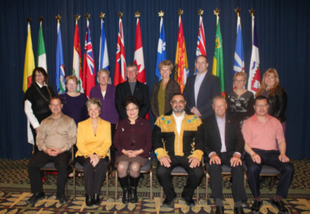 The Honourable Alice Wong, Minister of State (Seniors), with all the Federal, Provincial and Territorial (F/P/T) Ministers Responsible for Seniors. (CNW Group/Employment and Social Development Canada)
