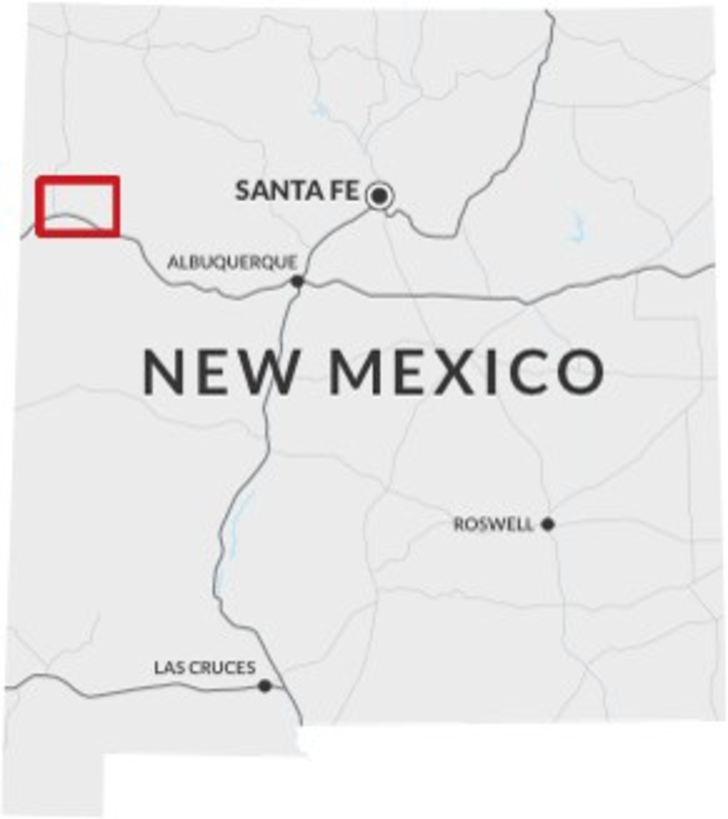 Figure 2: Laramide Resources Ltd. Projects area in New Mexico, USA.