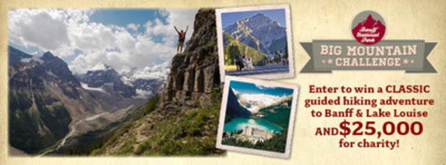 """Banff National Park launches """"Big Mountain Challenge"""" (CNW Group/Banff Lake Louise Tourism)"""