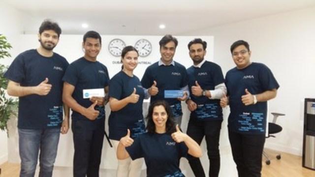 Les analystes de données d'Aimia à Dubaï se préparent à entreprendre leur second projet en analyse philanthropique des données (Groupe CNW/AIMIA)