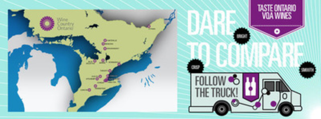 #FollowTheTruck all summer long. Check out our upcoming schedule of stops: www.winecountryontario.ca/tasteontariowine (CNW Group/Wine Country Ontario)