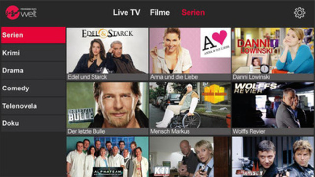 With the ProSiebenSat.1 Welt app, viewers can now decide when and where they watch their favorite programs. (CNW Group/ProSiebenSat.1 Welt)