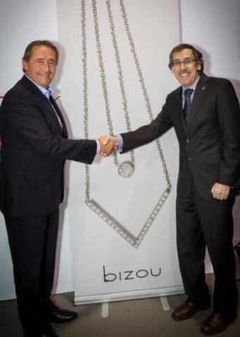 M. Marcel Labrecque – Président de Bizou et M. Albert Falardeau – Président de Familiprix (Groupe CNW/Familiprix)