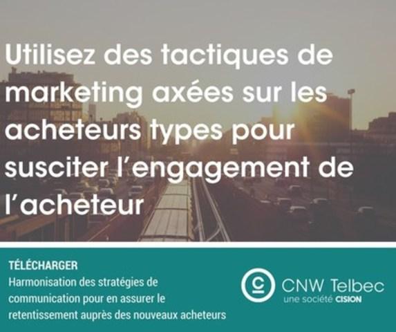 Utilisez des tactiques de marketing axées sur les acheteurs types pour susciter l'engagement de l'acheteur (Groupe CNW/Groupe CNW Ltée)