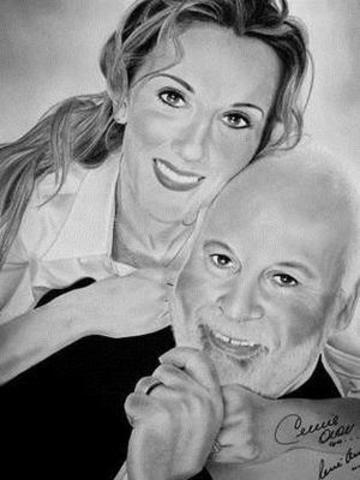 Lancement de portraits autographiés par Céline Dion et René Angélil pour soutenir les enfants malades (Groupe CNW/Cogito communication)