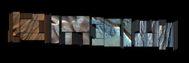 Maquette du projet de Frédéric Lavoie, Life on Mars?, soutenu par le Conseil des arts et des lettres du Québec et la Place des Arts, destiné à l'écran mosaïque de l'Espace culturel Georges-Émile-Lapalme de la Place des Arts. Photo © Frédéric Lavoie. (Groupe CNW/Conseil des arts et des lettres du Québec)