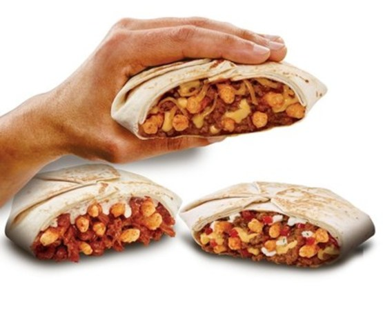 Launching today and only available in Canada, the Cheetos Crunchwrap Slider comes in three delicious flavours: Beefy Cheddar, Spicy Chicken and Supreme (CNW Group/Taco Bell)