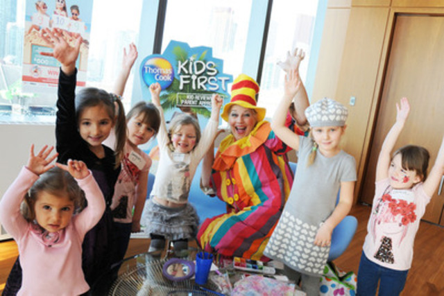 Kids give Thomas Cook Kids First program their seal of approval. (CNW Group/Thomas Cook Canada)