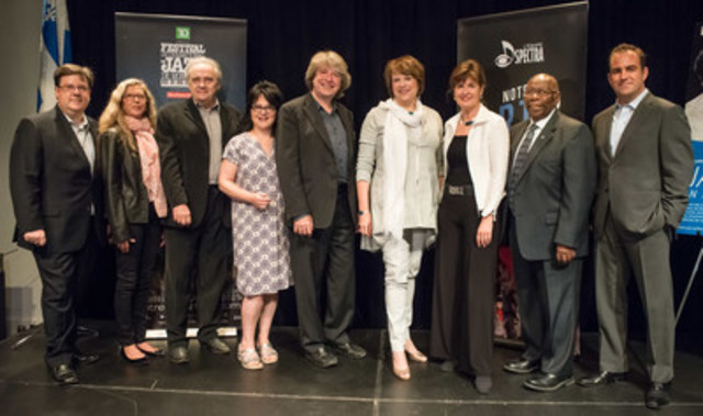 29 juin 2015 - BAnQ acquiert le fonds d'archives du Festival International de Jazz de Montréal grâce à un don de L'Équipe Spectra. Photo : Michel Legendre. (Groupe CNW/Bibliothèque et Archives nationales du Québec)