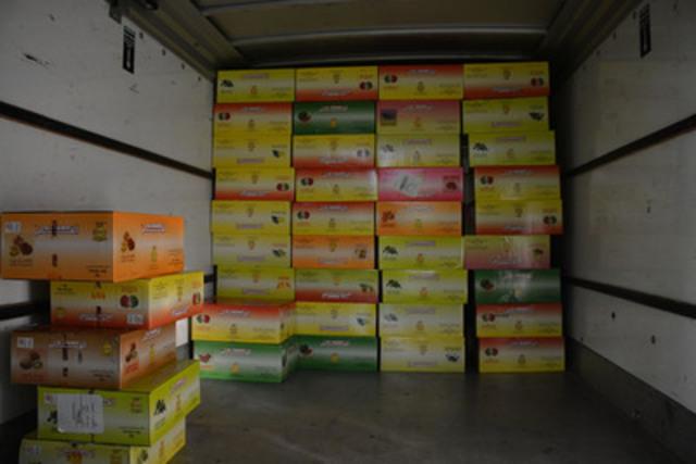 Tabac de contrebande saisi (Groupe CNW/Gendarmerie royale du Canada)