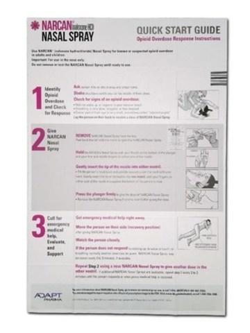Vaporisateur nasal NarcanMD – Emballage du produit américain visé par l'arrêté d'urgence existant, actuellement offert au Canada (Groupe CNW/Adapt Pharma)