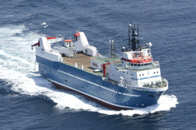 Clearwater welcomes the Belle Carnell, the world's most technologically advanced shellfish harvester, to its fleet. (CNW Group/Clearwater Seafoods Incorporated)