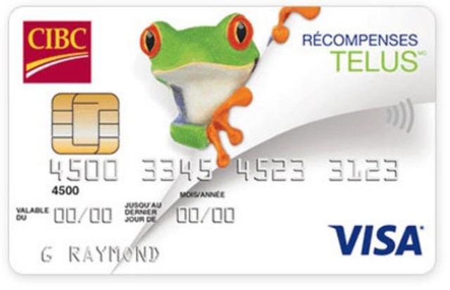 Carte Visa* Récompenses TELUS(MD) de la CIBC (Groupe CNW/Banque CIBC)
