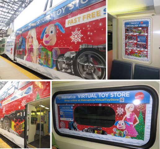 Ten GO trains travelling in and out of the GTA will be transformed into Virtual Toy Stores, allowing commuters to shop for this season's hottest toys while on the go (CNW Group/Mattel Canada, Inc.)