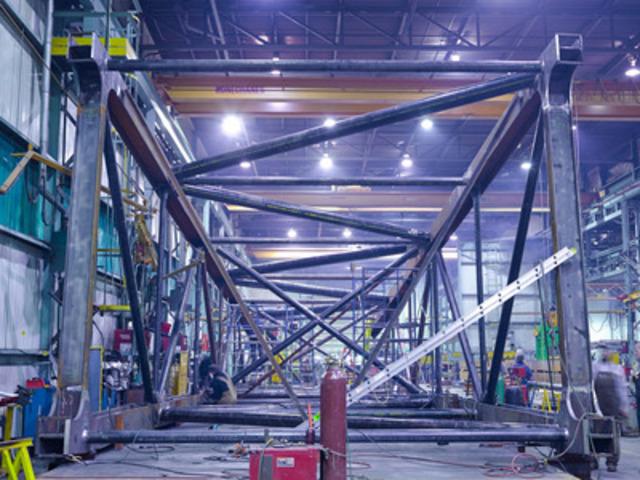Brandt set to transport massive boom. (CNW Group/Brandt Tractor Ltd.)