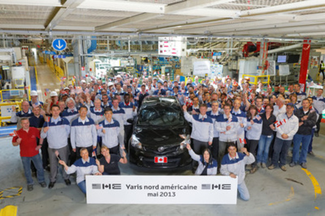 2013 TMMF Yaris Export to North America (CNW Group/Toyota Canada Inc.)
