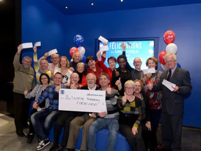 Les heureux gagnants du million garanti du tirage du Lotto& 6/49 du 15 octobre 2016 (Groupe CNW/Loto-Québec)