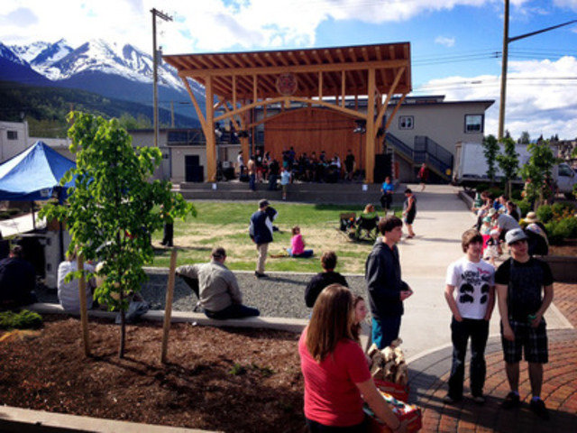 NCLGA -- North Central Local Government Association: Town of Smithers - Bovill Square (Credit: Town of Smithers) (CNW Group/Canadian Wood Council for Wood WORKS! BC)