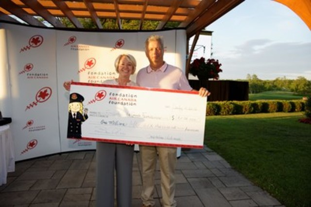 Over $1,000,000 Raised by Air Canada Foundation Destined to Help Canadian Children's Charities (CNW Group/Air Canada)