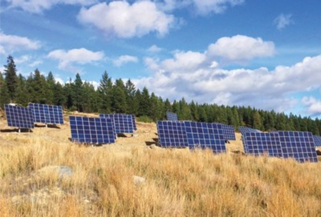SunMine is the first large-scale project in Western Canada to utilize solar trackers. (CNW Group/SkyFire Energy Inc.)