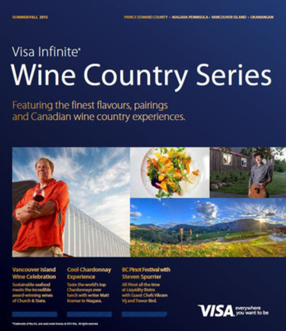 Front Cover of the 2015 Visa Infinite Canadian Wine Country Series (CNW Group/Wine Country Ontario)
