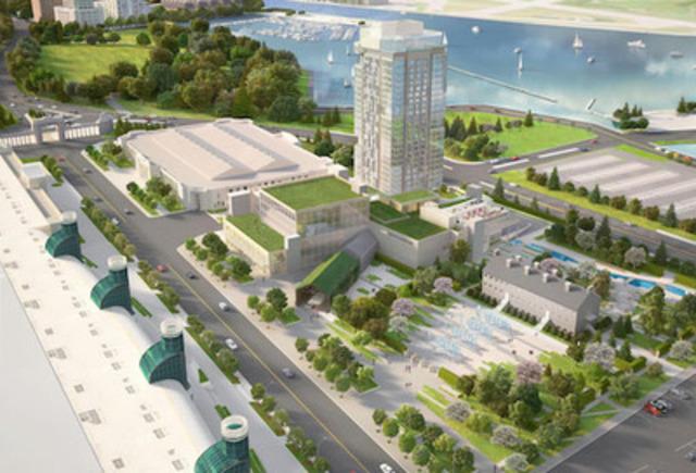 Hotel X Toronto Celebrates Construction Milestone With Topping Off Ceremony (CNW Group/LMA)
