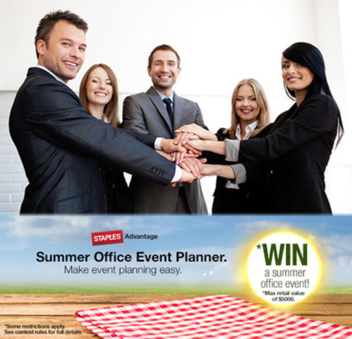 Enter the Staples Advantage 'Win a Summer Office Event' contest for your chance to win a $5,000 office party. (CNW Group/Staples Advantage Canada)