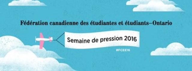 Fédération canadienne des étudiantes et étudiants - Ontario (Groupe CNW/Canadian Federation of Students - Ontario)