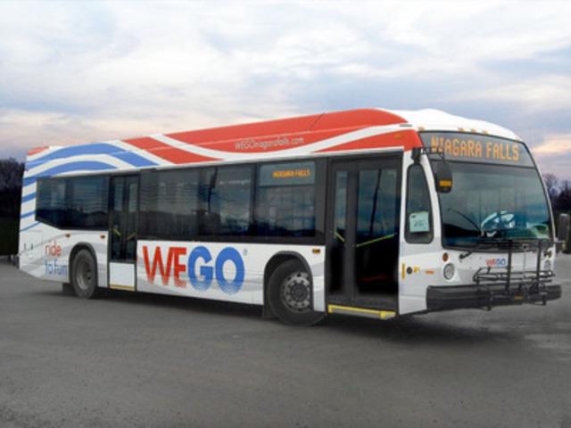 Dévoilement de l'image de marque du nouveau réseau de transport pour les visiteurs de Niagara Falls : WEGO (Groupe CNW/Transports Canada)