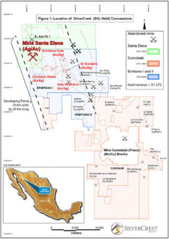 Durazno Figure 1 (CNW Group/SilverCrest Mines Inc.)