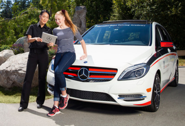 This month, the Mercedes-Benz Driving Academy for New Drivers has completed its first year of operation. Since its official launch in the Greater Vancouver Area in 2013, a total of 730 new drivers have taken in 6,100 hours of intensive coaching. (CNW Group/Mercedes-Benz Canada Inc.)