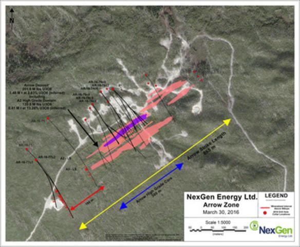 Figure 1: Arrow Drill Hole Locations (CNW Group/NexGen Energy Ltd.)