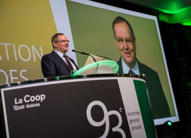 Denis Richard, president of La Coop fédérée (CNW Group/La Coop fédérée)