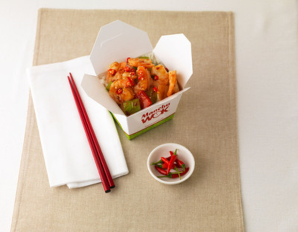 Manchu WOK's new Firecracker Shrimp (CNW Group/Manchu Wok Fast & Fresh Chinese Cuisine)