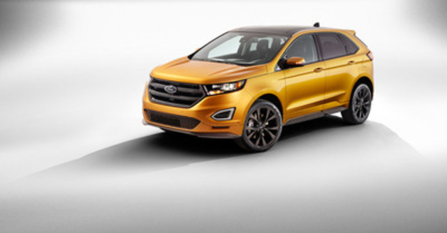 Ford Motor Company of Canada, Limited's Oakville Assembly plant is adding 1,000 new jobs as it transforms into a global manufacturing facility and gears up to launch the new global 2015 Ford Edge. The 2015 Ford Edge will be shipped to more than 100 countries (CNW Group/Ford of Canada)